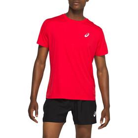 asics Silver Koszulka rowerowa z krótkim rękawem Mężczyźni, czerwony